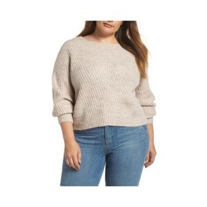 LEITH Wool Blend Boatneck Sweater